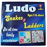 2 In 1 Ludo & Snakes & Ladders Wooden Board Game