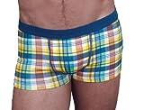 Mens JOCKEY Y-Front Boxer Short Trunk Plaid Check Designer Fashion Underwear