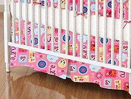 SheetWorld - Crib Skirt (28 x 52) - Baby Tweety Pink - Made In USA