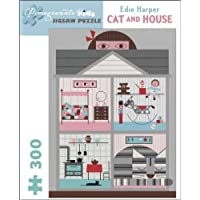 Cat and House 300-Piece Jigsaw Puzzle by American artist Edie Harper