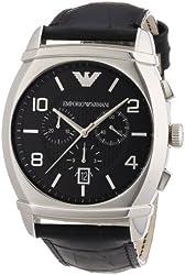 Emporio Armani Men's AR0347 Classic Black Chronograph Dial Watch