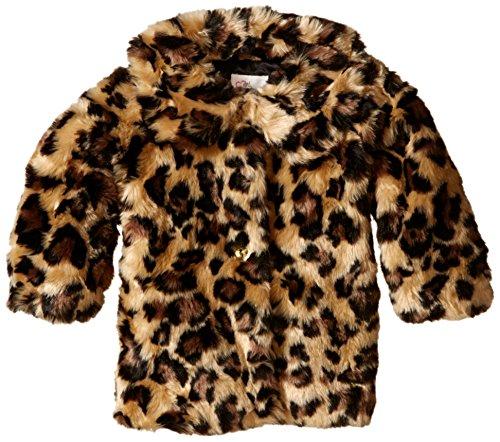 The Children's Place Baby-Girls Leopard Fur Coat, Leopard Fur, 12-18 Months