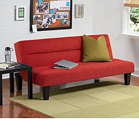 Dorel Home Products Kebo Futon Sofa Bed, Red