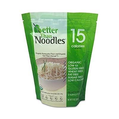 Better Than Noodles, Certified Organic. Vegan, Gluten-Free, Non-GMO, Konjac, Shirataki Noodles 14oz. (6 pack/84 oz.) ($0.29 Per Ounce)