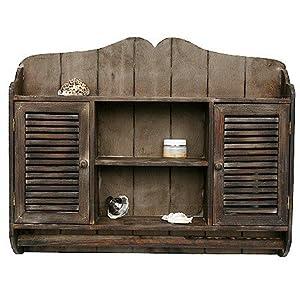 regal h ngeschrank k chenregal badregal altes holz. Black Bedroom Furniture Sets. Home Design Ideas