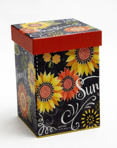 Blackboard Bouquet Sunflower Ceramic Latte Travel Mug with Gift Box