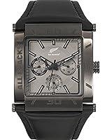 All Blacks - 680159 - Montre Homme - Quartz Chronographe - Cadran Gris - Bracelet Cuir Noir