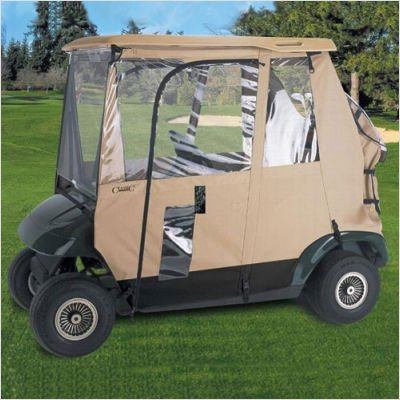 Fairway Deluxe 3 - Sided Golf Car Enclosure Model: Fits '83 - '07 Club Cars with Included Adapter