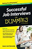 img - for Successful Job Interviews For Dummies (For Dummies Series) book / textbook / text book