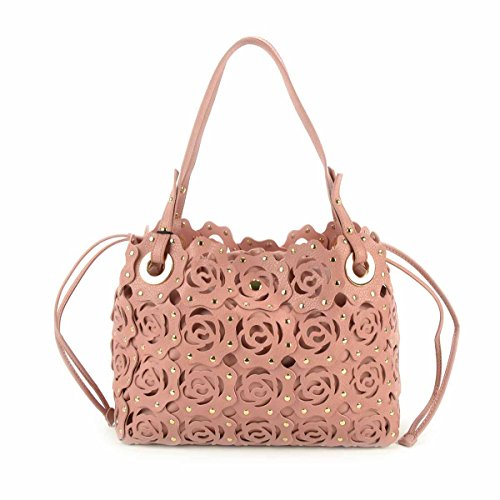TWIN-SET Borsa shopping con patchwork rose - AS67HB Rosa Cameo