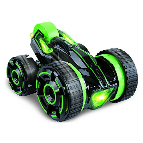 SZJJX Five Wheels Race Stunt Car 2WD Remote Control RC Vehicle with LED Headlights Extreme High Speed 360 Degree Rolling Rotating Rotation Green (Light Up Remote Control Car compare prices)