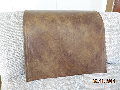 Chair Covers Recliner Pads Headrest Pads Furniture Protectors Std Two Tone Brown Leather Look 12x30 Furniture Covers Recliner Covers Sofas Loveseats Chaises (Chair Headrest Covers compare prices)