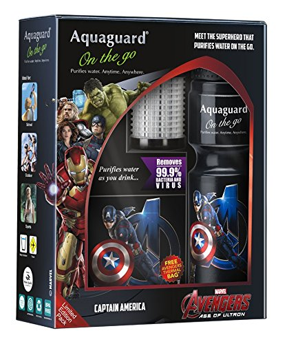 Aquaguard On The Go Captain America Personal Purifier Bottle