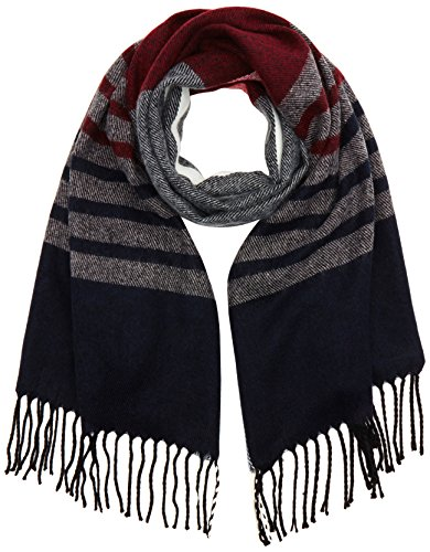 dorothy-perkins-womens-stripe-scarves-red-wine-one-size