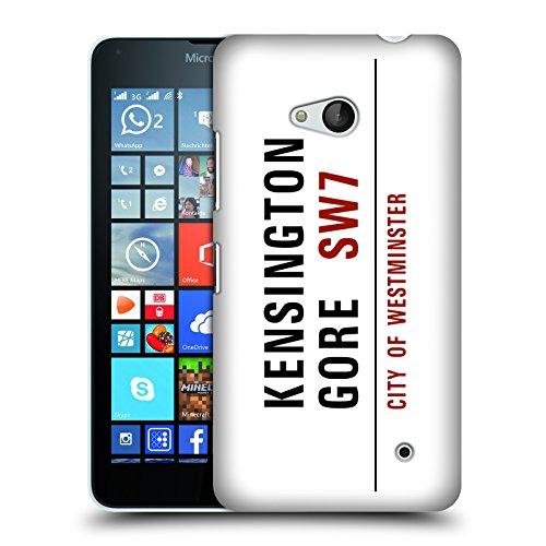 Ufficiale London Kensington Gore Segnali Stradali 2 Cover Retro Rigida per Microsoft Lumia 640 / Dual SIM