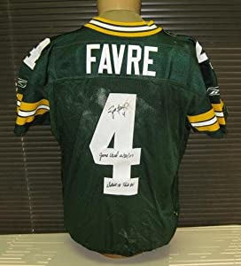 Brett Favre Signed Game-Used Packers Jersey Unwashed - Autographed NFL Jerseys