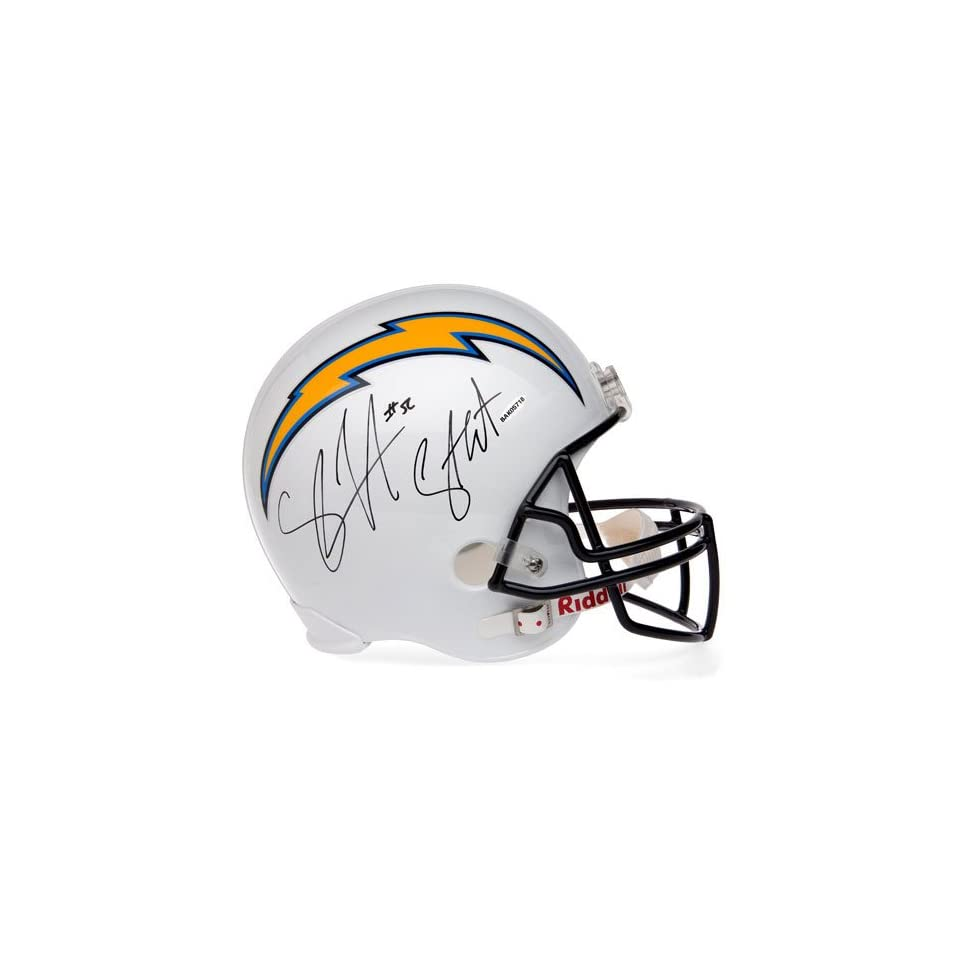 Shawne Merriman San Diego Chargers Autographed Replica Helmet with