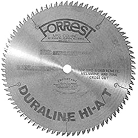 Forrest DH101007100 Duraline HI-A/T 10-Inch 100 Tooth 5/8-Inch Arbor .100-Inch Kerf Melimine & Plywood Cutting Circular Saw Blade