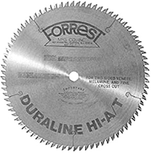 Forrest DH10807125 Duraline 10-Inch 80 Tooth HI-A/T Melamine and Plywood Cutting Saw Blade with 5/8-Inch Arbor at Sears.com
