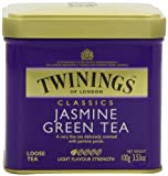 Twinings, Classics, Loose Tea, Jasmine Green Tea, 3.53 oz (100 g)