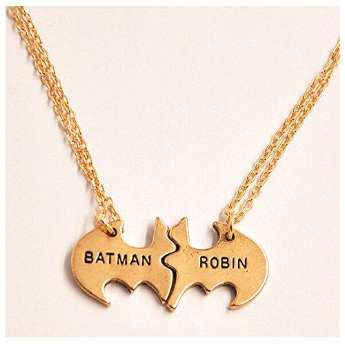 Elakaka Women's Batman Robin Necklace Combination