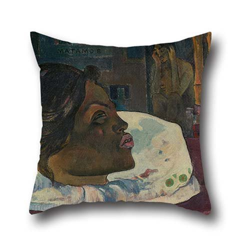 Pillow Covers Of Oil Painting Paul Gauguin (French - Arii Matamoe (The Royal End) 18 X 18 Inches / 45 By 45 Cm,best Fit For Husband,bf,shop,teens Boys,relatives,car Seat Both Sides (Paul Jr Designs Seat Covers compare prices)