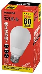 東芝 ネオボール 電球形蛍光ランプ 電球60ワットタイプ 電球色 EFA13EL-E-U