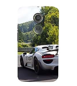 EPICCASE Sporting car Mobile Back Case Cover For Moto X 2nd Gen (Designer Case)