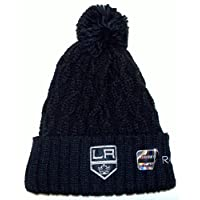 NHL Los Angeles Kings Cuffed with Pom Reebok Knit HAT - Women Osfa - KE68W
