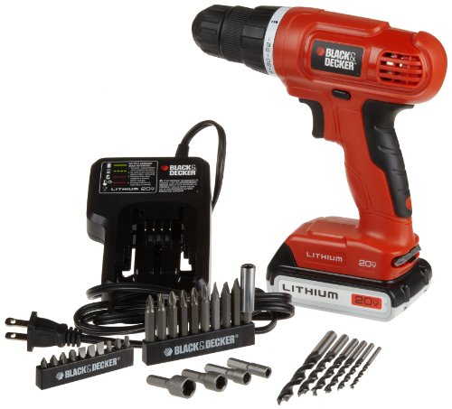 Black & Decker LD120VA 20-Volt MAX Lithium-Ion Drill/Driver with 30 Accessories (Drill Lithium Ion compare prices)