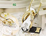 4GB Sleeper Necklace USB Flash Drive (Golden Yellow)(shipping from China)