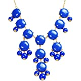 Bubble Necklace, Statement Necklace, Bubble Jewelry (Fn0508-Blue)