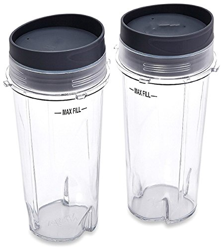 Sduck Replacement Parts for Nutri Ninja Blender, Two Pack 16-Ounce (16 oz.)Single Serve Cup Fit for Ultima & Professional Nutri Ninja Series BL770 BL780 BL660 All Pro 4 Tab Blenders (Ninja Pro Blender Single Serve compare prices)