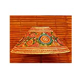 """The India Craft House Transluscent Leather Hand Painted Table Lamp Shades - 6"""" - B0114GCGUA"""
