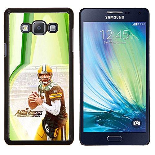 Aaron Rodger 12 NFL - Aluminum Metal & plastica dura Phone caso - nero - Samsung Galaxy A7 / SM-A700