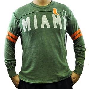 Buy NCAA Miami Hurricanes Rave Cotton Long Sleeve Shirt Sweatshirt GIII Sport XLG XL by G-III Sports
