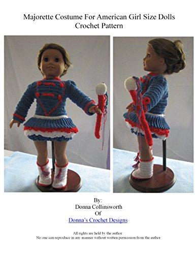 American Girl Doll Majorette Outfit Crochet Pattern
