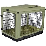 Pet Gear The Other Door Steel Crate with Fleece Pad for Cats and Dogs Up to 90-Pound, Sage
