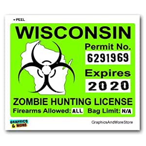 Wisconsin wi zombie hunting license permit for Wisconsin fishing license