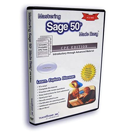 Mastering Sage 50 Made Easy Video Training Tutorial - CPE (Continuing Professional Education) Edition versions 2013 for CPAs/Accountants v. 1.0