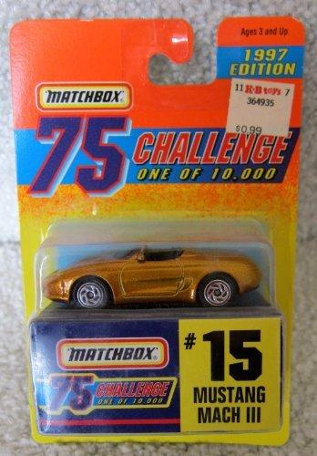 Matchbox Gold Mustang Mach 3 #15 75 Challenge 1997 - 1