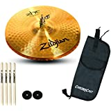 Zildjian ZHT 13-Inch Master Sound Hi-Hat Cymbals (Pair) with 2 pair ChromaCast 5A sticks, Stick Bag and Hi-Hat Felts