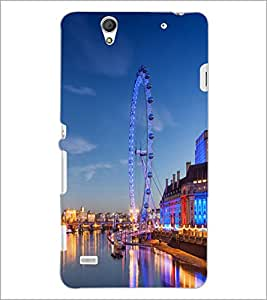 PrintDhaba Giant wheel D-1058 Back Case Cover for SONY XPERIA C4 (Multi-Coloured)