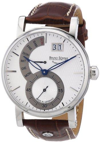 Bruno Söhnle Herren-Armbanduhr XL Pesaro I Analog Quarz Leder 17-13073-283