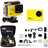 ENRG Epicam (Yellow) - 4K Resolution 12MP 170 Degree Wide Angle Lens 30M Waterproof Rechargeable Sports Action... - B01GG7QLIA