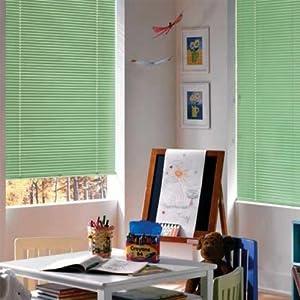 Amazon Com Sage Green Vinyl 1in Mini Blinds Window
