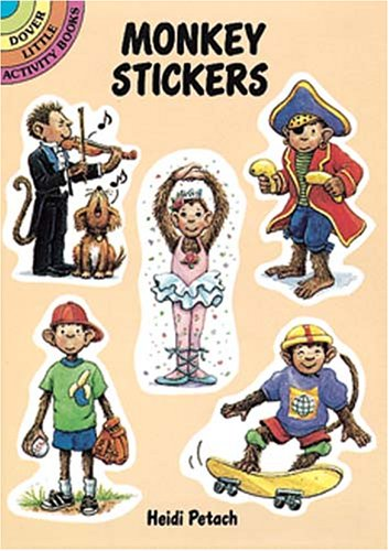 Monkey Stickers (Dover Little Activity Books)