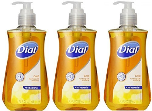 Dial Liquid Hand Soap, Gold, 7.5 Ounce (Pack of 3) (Dial Soap Hand compare prices)