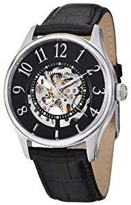 Stuhrling Original Men's 746L.SET.02 Delphi Solaris Automatic Skeleton Black Watch with Additional Strap
