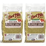 Bob's Red Mill Organic Whole Grain Raw Buckwheat Groats, 16 oz, 2 pk